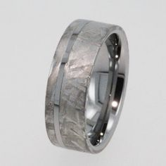 Mens Tungsten Wedding Rings / Meteorite Ring / Tungstenmens wedding rings