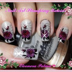 """"""" Rose Antique"""" Stamping Decal Tecnique -Base: Essence """" Urban Messages"""" 02 -Stamping plate :MoYou Pro 04 and XL Plate E (rose) -Stamping with: Kiko 326 (for the written)-Konad black, Kiko 286 and Kiko 378( for the rose) #nailstampingdecals,#nailartstampingmania , #moyou,#stampingplate ,#kikocosmeticsofficial ,#konad ,#essencepolish ,#nailpolish ,#nailstampingrose,#xlplate"""