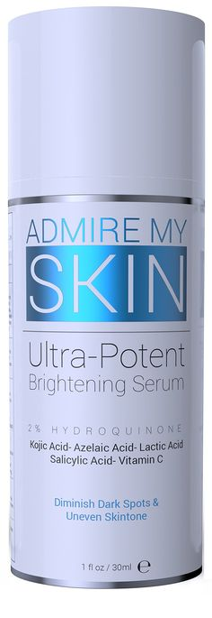 Admire My Skin 2% Hydroquinone Fade Cream Dark Spot Corrector & Melasma Treatment - Contains Salicylic Acid, Kojic Acid, Azelaic Acid, Lactic Acid 1 fl oz / 30 ml