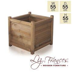 Wooden Cube Planter 55cm by Liz Frances™