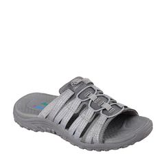 dde32d945134 Skechers Women s Reggae Repetition Slide Sandals (Charcoal) - 5.0 M Women  Slides