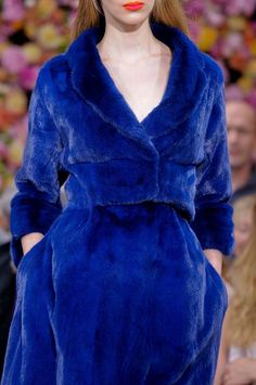Christian Dior Fall 2012 Blue Couture Mink (=)
