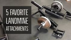 Top 5 Landmine Attachments for the Gym Garage Gym, Squats, Body Workouts, Teaching, Conditioning, Youtube, Exercises, Strength, Top