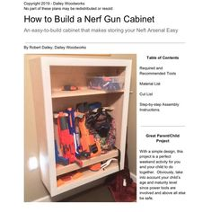 Gun Hiding Places, Gun Cabinet Plans, Nerf Gun Storage, Woodworking Furniture Plans, Woodworking Shop, Diy Furniture, Boys Room Decor, Kids Room, Wall Storage