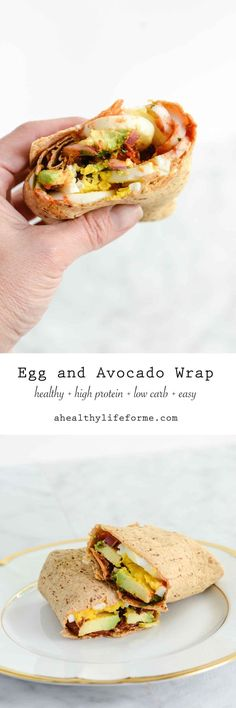 Egg and Avocado Wrap is loaded with protein, but is low in carbs.  Healthy, clean and delicious, a recipe that will help to jump start to your day. #getdownwithproteinup - A Healthy Life For Me