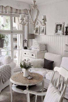 all shades of white 30 beautiful living room designs digsdigs shabby chic pinterest. Black Bedroom Furniture Sets. Home Design Ideas