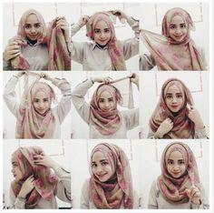 How to wear hijab tutorials round faces 51 ideas Turban Hijab, Mode Turban, Square Hijab Tutorial, Hijab Style Tutorial, Hijabi Girl, Girl Hijab, Hijab Bride, Wedding Hijab, Wedding Dresses