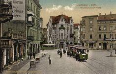 Hirschberg Warmbrunnerplatz Berg, Street View, Landscape, Postcards, Colorful, Photos, Historia, German, City