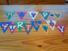Colorful Happy Birthday Banner by BwheatPeanutsnBeans on Etsy