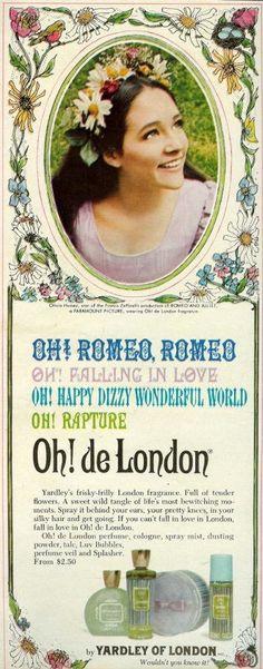 "From Seventeen, November 1969. Olivia Hussey from Franco Zeffirelli's ""Romeo and Juliet"""