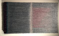 """A work from the exhibit """"Olga de Amaral: Selected Works,"""" which was on view at the Louise Blouin Foundation, at 3 Olaf Street, London, from October 14-30, 2013. #textile"""