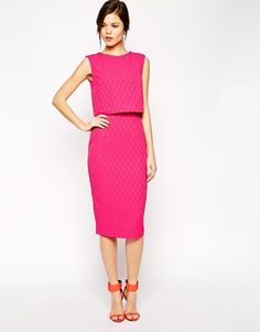 ASOS Pencil Dress with Shell Top in Texture -you like? Yes of course you like