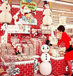 Christmas grocery store display (Hughes Market, Los Angeles, 1960's)