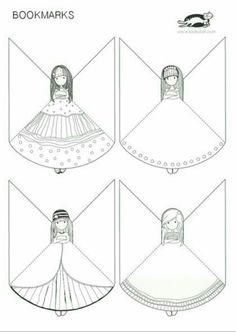 23 Clever DIY Christmas Decoration Ideas By Crafty Panda Diy Bookmarks, Corner Bookmarks, Printable Bookmarks, Diy Paper, Paper Art, Paper Crafts, Diy And Crafts, Crafts For Kids, Arts And Crafts