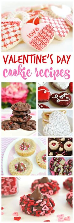 Valentine's Day Cookie Recipes! The best cookies and valentines treats for class parties or to take to work!