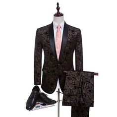 2017 Velvet Man Suits Custom Made Groom Tuxedos Fashion Groomsman Suit Slim Homecoming Suit Wedding Suit Blazer(Jacket+pants)