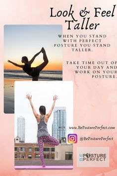 If you are looking to decrease back pain and increase your confidence, try a posture brace. When you are slouching your shoulders are rounded and your belly sticks out. Good posture pulls your shoulders back and your stomach in. Proper posture puts a lot less strain on your body, plus it looks better. #bepostureperfect #health #posturecorrection #healthyliving #backpain #posture #tech-neck #pain #neckpain #painfree #yoga #pilates #postureworkouts #tech-neck #badposture #sittingposture Better Posture Exercises, Posture Stretches, Taller Exercises, Fix Bad Posture, Good Posture, Improve Posture, How To Be Taller, How To Get Tall, Body Inflammation