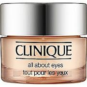 Clinique eye cream- All About Eyes. Amazing product- i keep it in the fridge to really wake my eyes up  :)