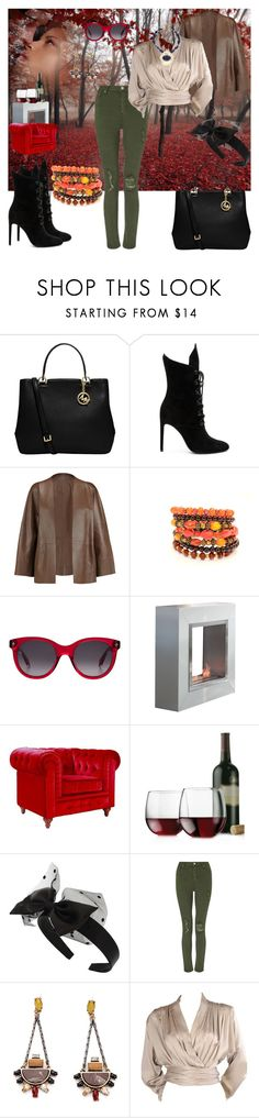 """""""Grin to Win"""" by black-wings ❤ liked on Polyvore featuring MICHAEL Michael Kors, Kendall + Kylie, Etro, Alexander McQueen, Libbey, Miss Selfridge, Yves Saint Laurent and Chico's"""