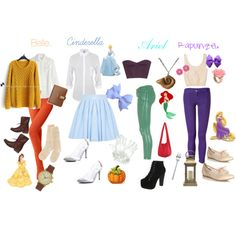 disney princesses in modern day | fashion look from April 2013 featuring Splendid tops, Equipment ...