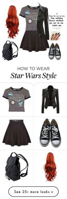 """Untitled #3422"" by if-i-were-famous1 on Polyvore featuring New Look, Topshop and Converse"