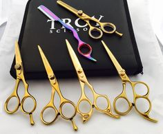Professional Scissors Shears Hairdressing Thinning Hair Salons Only 1 Set Avai #Troyscissors