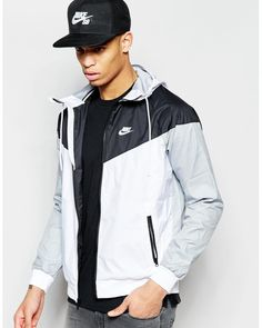 Nike Windbreaker Jacket 727324-101 in Gray for Men (White) | Lyst