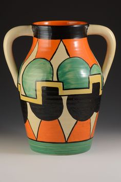 clarice cliff CASTELLATED CIRCLE LOTUS JUG C.1930