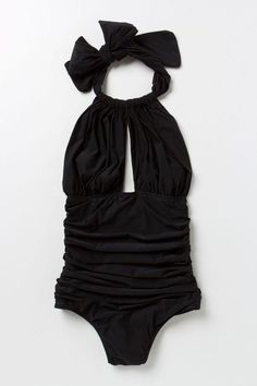Lenny Niemeyer Ruched halter maillot. Lovely old Hollywood.