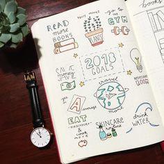 getting ready for the new year by setting goals ✨ #bujoinspire #bujo #bulletjournal #study #studyblr #crayolasupertips #danielwellington #succulents #art #newyear #bujoideas #bujodaily #newyearsresolution #goals #bujobeauty #l4l
