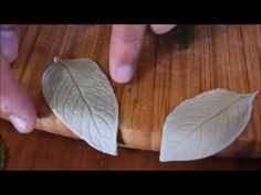 How to Make Edible Fondant Leaves without using Fondant Leaf Cutters - A...
