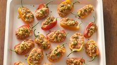 Taco-Stuffed Mini Sweet Peppers
