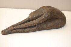 Bronze Resin #sculpture by #sculptor Kay Singla titled: 'Ballerina Sitting (Ballet Dancer sculpture)'. #KaySingla
