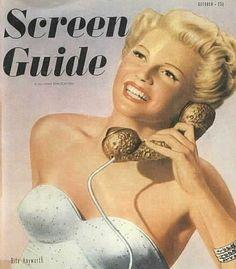 vintage movie magazines | vintage everyday: Rita Hayworth on Vintage Movie Magazine Covers