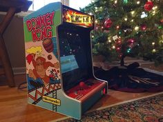 I made my brother a custom Donkey Kong bar top arcade machine for christmas. - Imgur