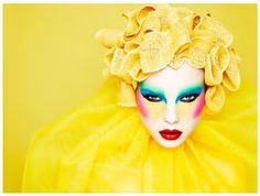 Makeup is an art form. This statement is taken at face value by makeup artist Ayami Nishimura and British photographer Rankin who have collaborated for a beauty book filled with surreal makeup styles. Rankin Photography, Yellow Photography, Fashion Photography, Editorial Photography, Make Up Art, How To Make, Fantasy Make Up, Foto Poster, Theatrical Makeup
