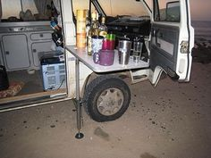 Outside Table Mount - GoWesty  Electrical cooler an option for when get inverter