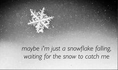 falling, snow, and snowflake εικόνα
