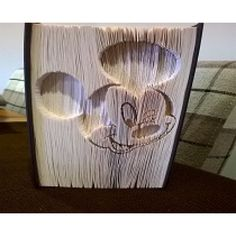 Mickey Mouse cut and fold book folding pattern.