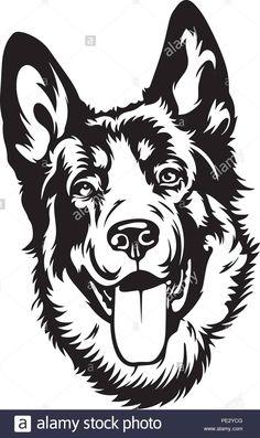 Animal Funnies, Funny Animals, German Shepherd Breeds, Animal Graphic, Silhouette Art, Pet Puppy, Wood Burning, Animal Drawings, Wood Art