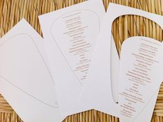 Perforated Wedding Program Fan Sheets can be printed on most printers. https://www.facebook.com/abigailwilder