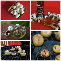 The simplest of appetizer recipes involving garlic infused olive oil, mushrooms and a hot grill. | Garlic Grilled Mushrooms | https://grillinfools.com