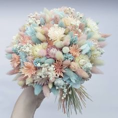 Non Flower Bouquets, Dyi Flowers, Prom Flowers, Dried Flower Bouquet, Diy Bouquet, Bridal Flowers, Pretty Flowers, Planting Flowers, Wedding Bouquets