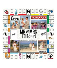 Look what I found on #zulily! Custom Mr. & Mrs. Monopoly Board Game #zulilyfinds
