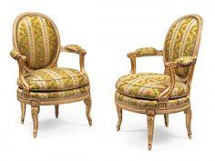 Paire de fauteuils Louis XVI par Georges Jacob