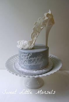 White high heel stiletto shoe cake