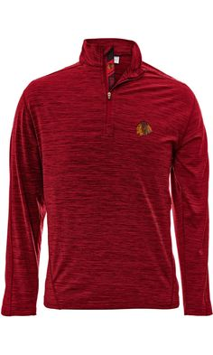 Men's Chicago Blackhawks Red 1/4 Zip Armour Shear Text Pullover Jacket, Red-Level Wear
