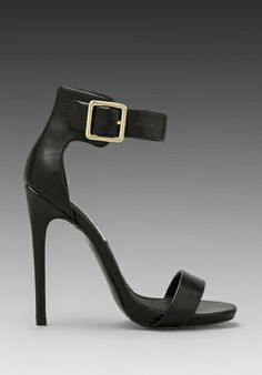STEVE MADDEN Marlenee Heel in Black Leather at Revolve Clothing - Free Shipping!