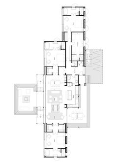 Gallery of Annandale Scrubby Bay / Pattersons - 12 Villa Plan, Layouts Casa, House Layouts, Large Floor Plans, House Floor Plans, Villa Design, House Design, Drawing House Plans, Architectural Floor Plans