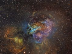 M17 Swan Nebula Image Credit : Bill Snyder Astrophotography Ha OIII SII Hubble Palete Ha 8.6hrs OIII 3.6hrs SII 4.3hrs RGB 40min each Scope TMB 130mm Apogee U8300 CCD